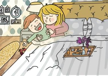 en la cama con mama
