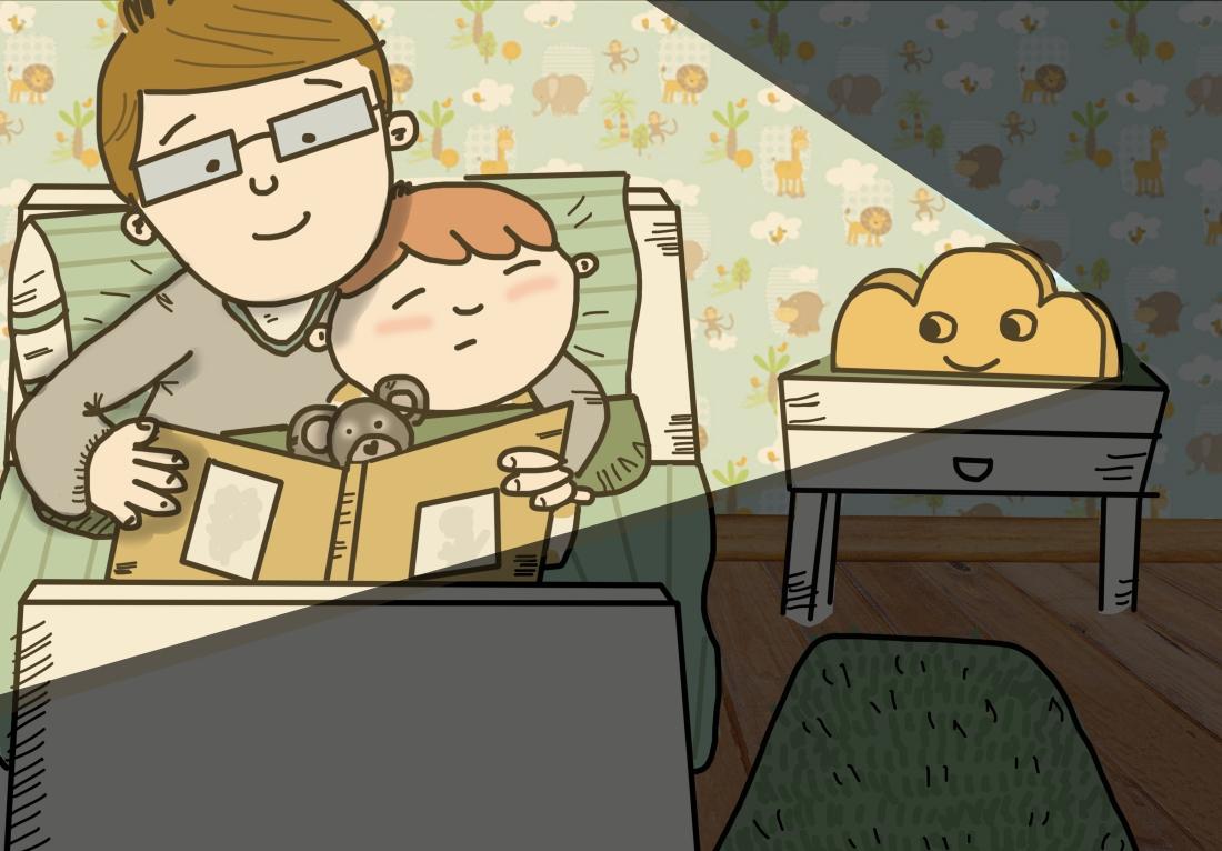 leyendo con papa