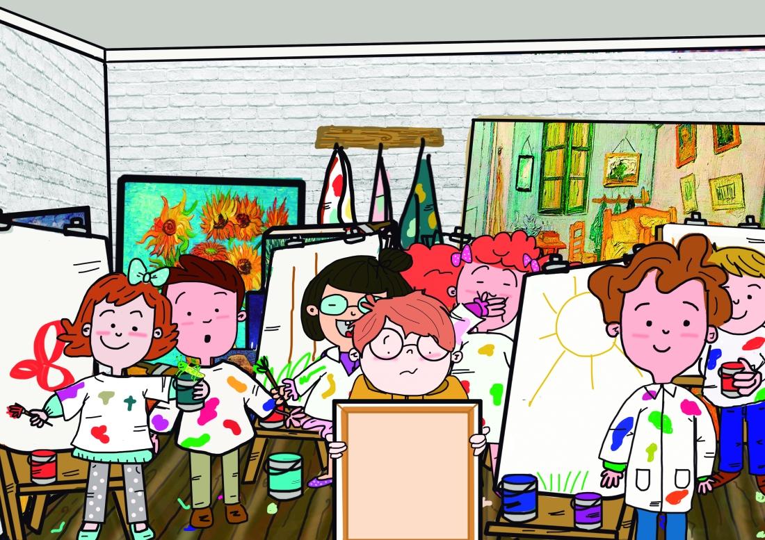 los niños se rien en el estudio