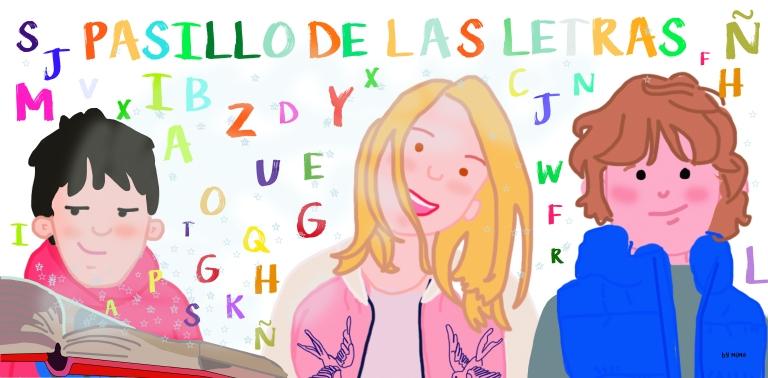 pasillo de las letras